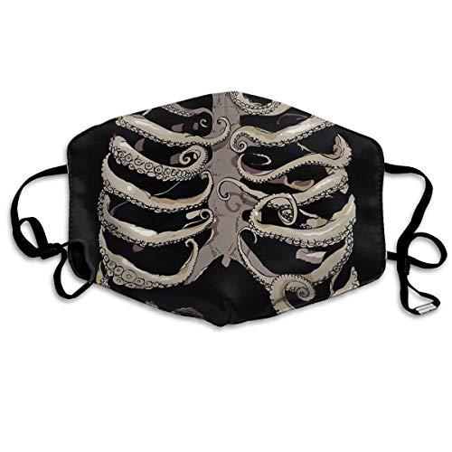 EighthStore Halloween Skull Skeleton Printed Mouth Masks Unisex Anti-dust Masks Reusable Face Mask Mouth-Muffle Mund Maske (Skeleton Für Halloween Face Bilder)