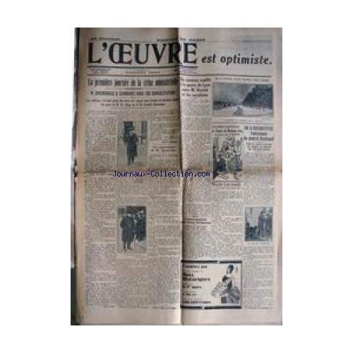OEUVRE (L') - LA 1ERE JOURNEE DE LA CRISE MINISTERIELLE - M. DOUMERGUE - NOUVEAU CONFLIT A LA MAIRIE DE LYON ENTRE M. HERRIOT ET LES SOCIALISTES - L'ENLEVEMENT DU GENERAL KOUTIEPOFF.