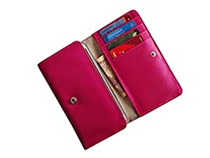 ATV PU Leather Pink Designer Flip Pouch Case Cover For SAMSUNG GALAXY S5 NEO