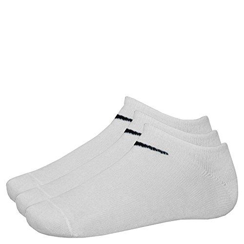 9 Paar NIKE Sneaker-Socken NO Show weiß M (38-42) SX2554-101 (No-show Weiß Socken Nike)