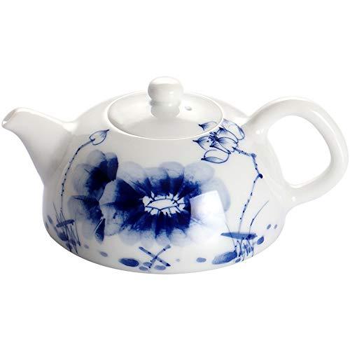 YZPCH Théière en Porcelaine Bleue et Blanche en céramique Fleur Royale os Fins