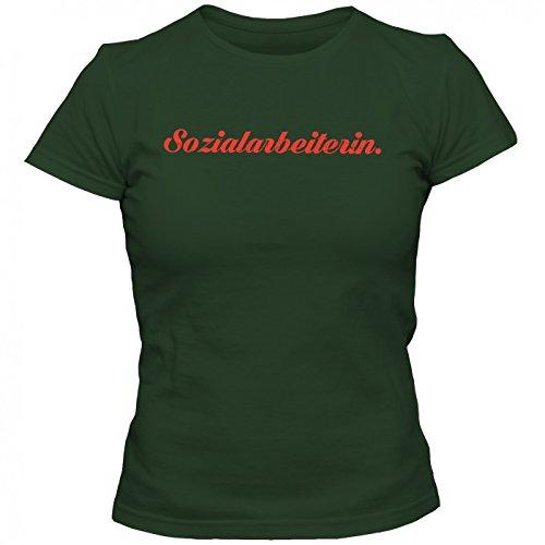 Sozialarbeiterin #1 T-Shirt   Berufe-Shirt   Traumberuf   Beste Sozialarbeiterin   Frauen   Shirt © Shirt Happenz Hellgrün (Kelly Green L191)