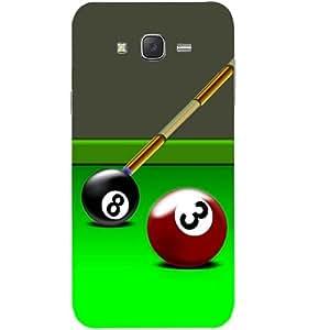 Casotec Billiard Pool Design Hard Back Case Cover for Samsung Galaxy J2