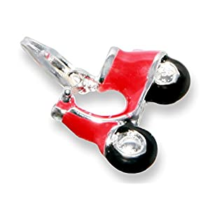 Enez Echt 925 Silber Anhänger Charms Charm Roller (1,3 x 1,7cm) t378