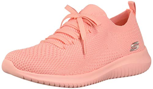 3066e15015ed2 Skechers Damen Ultra Flex- Pastel Party Sneaker Pink (Coral Crl) 38 EU