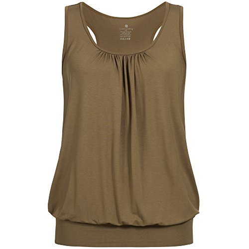 lilikoi Mujer Yoga Lifestyle Sport Cute Camiseta Top bambú, color mar