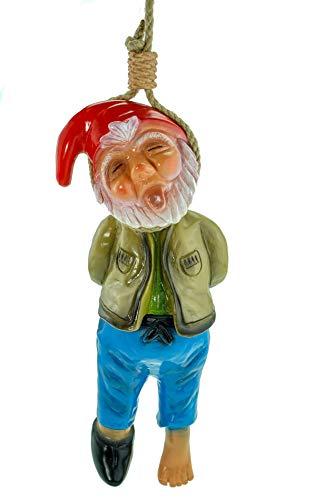 Rakso 0930 Gartenzwerg erhängt 40 cm PVC Zwerg Made in Germany Figur Garten