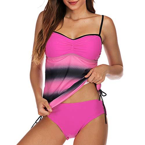 Size Print Tankini Einfache Badeanzug Beachwear Gepolsterte Bademode ()