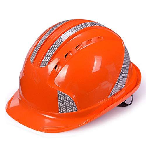 cherheitsarbeitssturzhelm, Bauarbeitersturzhelm, industrieller Schutzhelm, Arbeitssturzhelm, Schutzhelm Technischer Helm (Farbe : Orange) ()