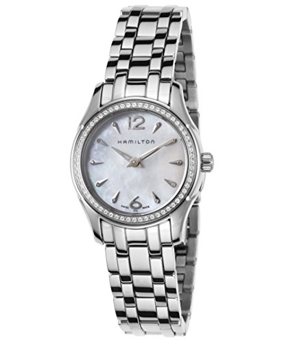Hamilton Women's Jazzmaster 28mm Steel Bracelet & Case S. Sapphire Swiss Quartz White Dial Watch H32281197