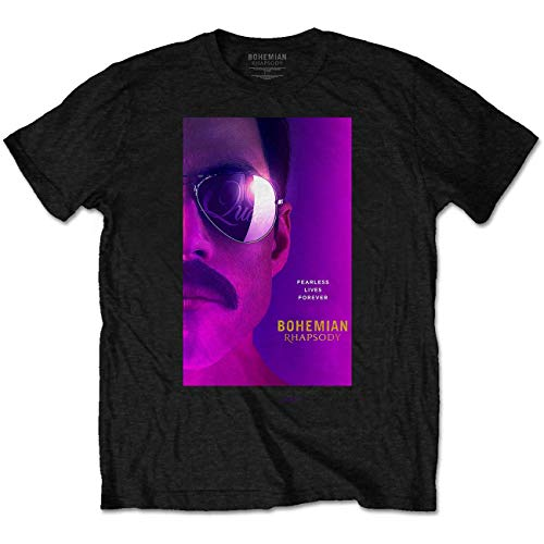 Queen Freddie Mercury Face Bohemian Rhapsody offiziell Männer T-Shirt Herren (Medium) Rhapsody Tee