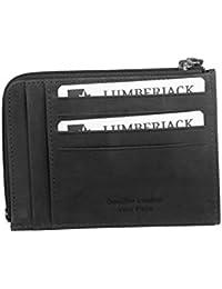 Cartera hombre LUMBERJACK negro en cuero bolsillo zip tarjetas de credito A5492