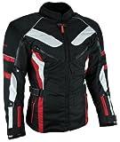 Heyberry Touren Motorrad Jacke Motorradjacke Textil schwarz rot Gr.XXL