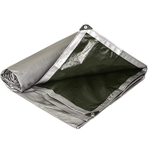 JLZS-Tarpaulin Verdicken Armee Grün Silber Wasserdicht Regen Tuch Sonnencreme Markise Tuch Outdoor Sonnenschirm Plane Plane Auto LKW Plane (Farbe : Silber, größe : 4 * 8)