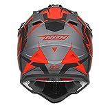 Nox Cross-Helm, Slash grau/orange, Größe 2XL