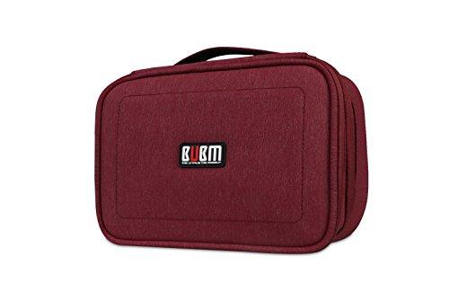 BUBM Kopfhörer Wasserdichte Reise Schutzhülle für Digital Data Kabel USB Organizer Elektronik und Zubehör Aufbewahrungstasche Board rot rot