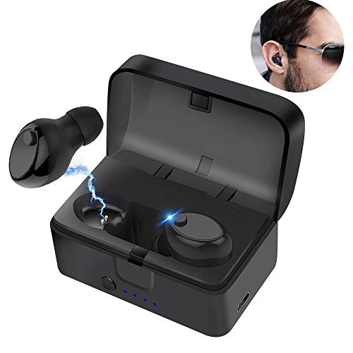 Bluetooth V5 Mini Wireless Kopfhörer Headset in Ear Sport kabellose Ohrhörer HiFi-Stereo-kopfhörer (Geeignet für iPhone, Apple Watch, Android, Echo Dot usw) thumbnail