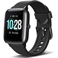 "Letsfit Fitness Trackers, Smart Watch with 1.3"" Touch Screen, Activity Tracker with Heart Rate Monitor, IP68 Waterproof Pedometer Smart Bracelet with Sleep Monitor, Step Counter for Women and Men"