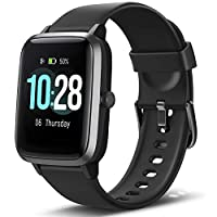 Letsfit Smart Watch with Heart Rate Monitor, 1.3 inch Touch Screen Fitness Trackers, Activity Tracker, IP68 Waterproof…