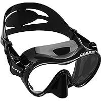 Cressi F1 Mask, Maschera Subacquea monovetro del Tipo Frameless Unisex Adulto, Nero, L