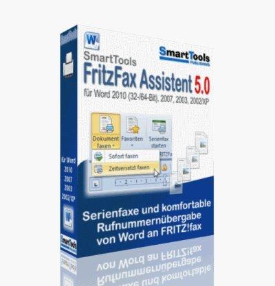 SmartTools SmartTools FritzFax Assistent 5.0 für Word 2010, 2007, 2003, 2002/XP - Einzel- und Serienfaxe per Mausklick direkt aus Word verschicken