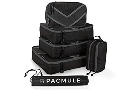 PACMULE Packing Cubes Set for Travel with Accessories Organiser &