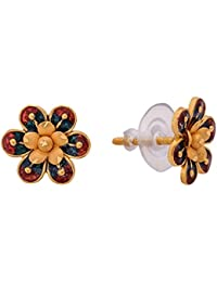 Senco Gold Aura Collection 22k Yellow Gold Stud Earrings for Women