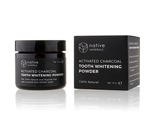 Native Minerals Natural Premium Aktivkohle für Teeth Whitening - 100% rein ohne schädliche Zusatzstoffe. Aktivkohle - Made in Großbritannien (1) -