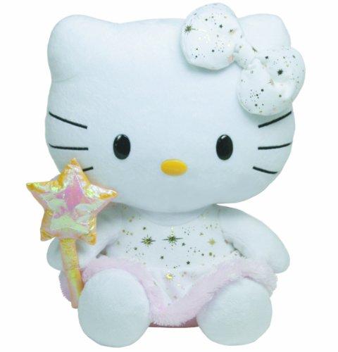 TY 7190137-Hello Kitty Large-Engel, Sternenstab, 25 cm, Glitzer