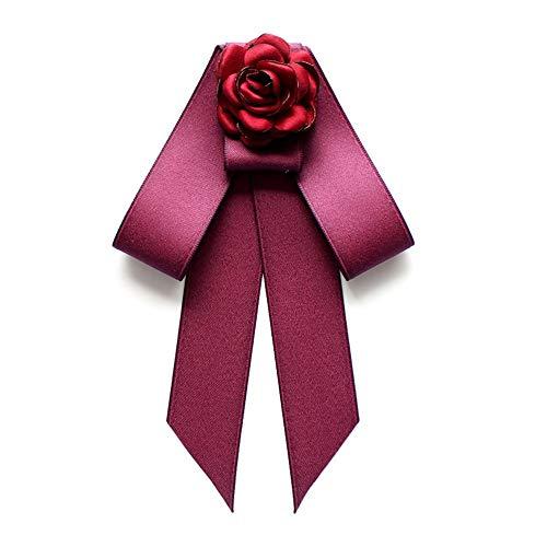 auvwxyz. Broschen Mode Blume übergroße doppelte Fliege Bluse dekorative Schleife Fliege Blume, Rose rot