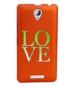 KolorEdge Back Cover For Lenovo A5000 - Orange (1287-Ke15114LenovoA5000Orange3D)