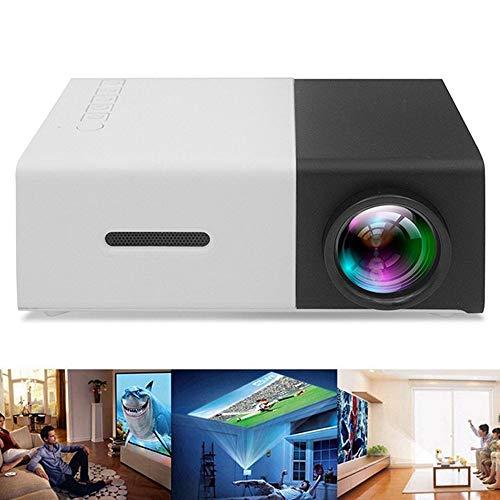 Covan_CN Mini-LCD-Projektor, Heimkino-Videoprojektor, 3D-Unterstützung, TV-Stick, PS4, Xbox, Laptop und Smartphone mit VGA-, AV-, USB- und 2 HDMI-Anschlüssen,Black (Laptop-präsentation-projektor)