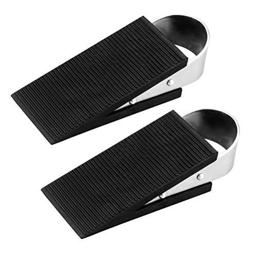 Preisvergleich Produktbild Vosarea Türstopper 2Pcs Edelstahl-Seilzugstopper Hochleistungs-Türstopper Funktioniert auf Allen Bodenoberflächen
