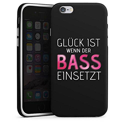 Apple iPhone 8 Plus Hülle Case Handyhülle Sprüche Glück Party Silikon Case schwarz / weiß