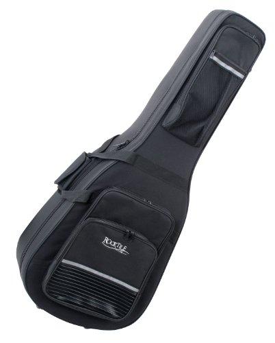 Rocktile Leichtkoffer für Klassikgitarre (Lightcase für Konzertgitarre, reiß- und wasserfestes Außengewebe, hochwertige Thermopolsterung, Innenmaße maximal (LxBxT): 105 x 38cm)