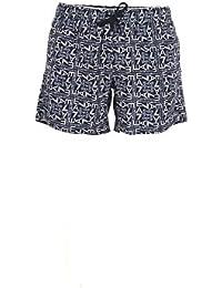 EA7 Hombre Pantalones Cortos de Baño Estampados, Azul