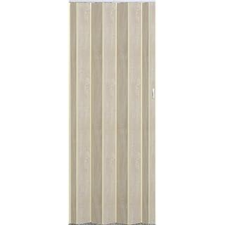 Falttür Schiebetür Tür Sonoma Eiche hell farben mit Schloß / Verriegelung Höhe 202 cm Einbaubreite bis 96 cm Doppelwandprofil Neu TOP-Qualität