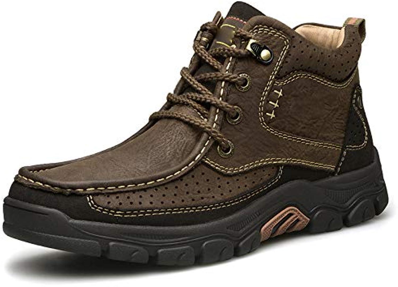 HWG-GAOYZ Stivali da Uomo Scarpe Stivali Martin Escursioni Invernali Outdoor Outdoor Outdoor Retro Warm Cotton scarpe Stivali Antiscivolo... | moderno  d73f2d