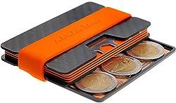 AARÁNDANO TM Premium Carbon Slim-Wallet mit CoinCard - Kartenetui mit Münzfach und Geldklammer - RFID NFC Schutz - Geldbörse Portmonee für Minimalisten