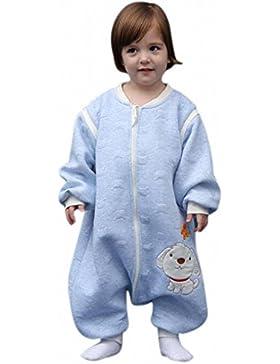babySchläfsack langarm winter kinderSchlafsack,Hund mit Füßen Baumwolle Junge Mädchen unisex ganzjahres Schlafanzug...