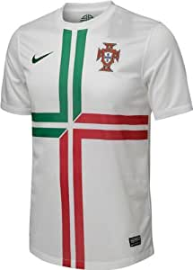 Nike Men Fußball Trikot Portugal Away / 447885-105 Farbe: FootballWhite/PineGreen