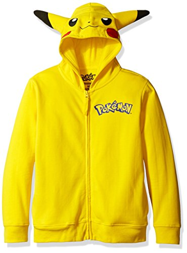 Boys Pokemon Pikachu Fancy dress costume Hooded Sweatshirt Small (4)