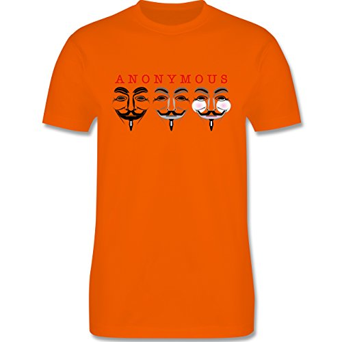 Nerds & Geeks - Anonymous Die Namenlosen drei - Herren Premium T-Shirt Orange