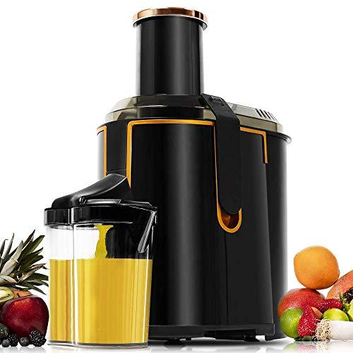 Cecotec ExtremeTitanium XXL Licuadora para Frutas y Verduras con 19000 RPM, 1300 W, Canal Entrada 75 mm, Disco Titanio, 2 Velocidades y Libre de BPA, Negro