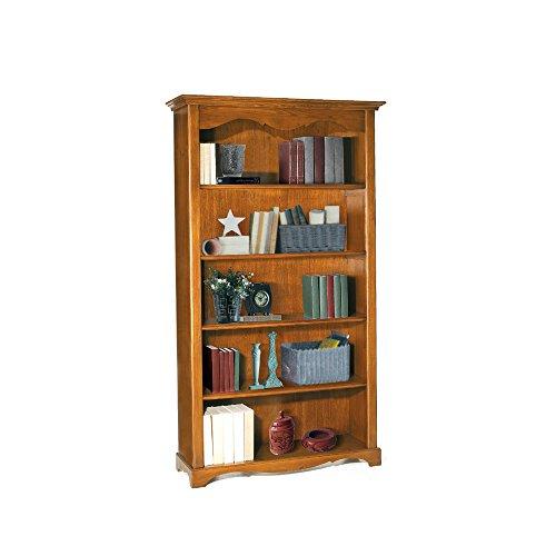 libreria-estilo-clasico-en-madera-maciza-y-mdf-con-acabado-nogal-pulido-medidas-120-x-40-x-210