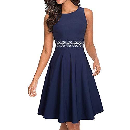 Kleider Damen jugendlich Kleider Damen Jeans Kleider Damen Jacke Abendkleider Cocktailkleid Partykleid (B2-46-Blau, 42)
