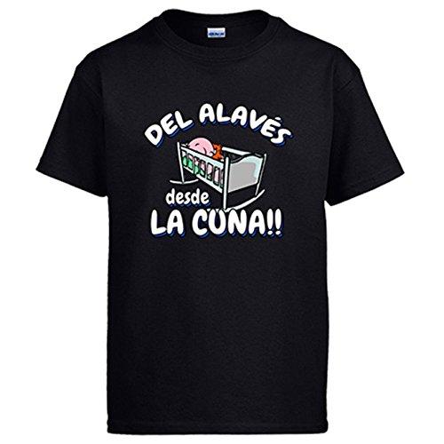 Camiseta del Alavés desde la cuna fútbol - Negro, M
