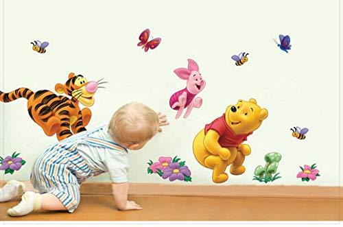 TM Disney Winnie Camera dei Bambini Pooh Cartoon Piede Wall Stickers Linea Decor Restly