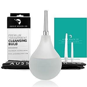 Durchsichtige (TM) 210 mL Klistierspritze-Birne Anal-Reinigungs-Set (Ungiftig – frei von BPA & Phthalaten) geeignet zur Darm-Reinigung mit Wasser + Kaffee, Entgiftung und Verstopfungshemmend