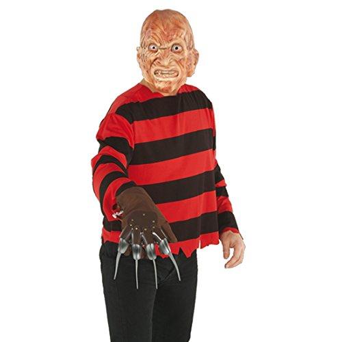 Freddy Krüger Kostüm Killer Halloweenkostüm Halloween Mörder Horrorkostüm Horror Thriller Filmkostüm Serienkiller Gruselkostüm Zombie Faschingskostüm Karnevalskostüme Herren (Killer Zombie Kostüm)